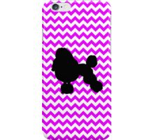 Perfectly Pink Chevron With Poodle Silhouette iPhone Case/Skin