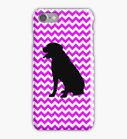 Perfectly Pink Chevron With Labrador Retriever iPhone Case/Skin