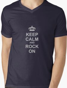 Keep Calm And Rock On! Mens V-Neck T-Shirt