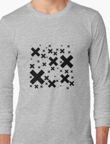 Black Emo Crosses Long Sleeve T-Shirt