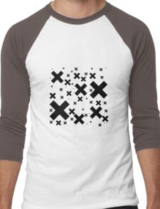 Black Emo Crosses Men's Baseball ¾ T-Shirt