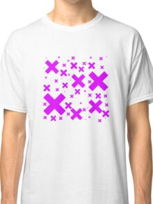 Pink Emo Crosses Classic T-Shirt