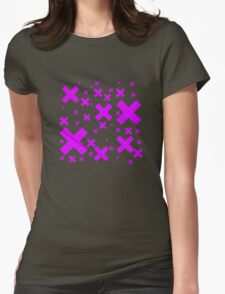 Pink Emo Crosses Womens Fitted T-Shirt
