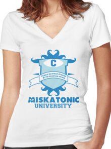 Miskatonic University Women's Fitted V-Neck T-Shirt