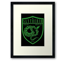 Slytherin Crest Framed Print