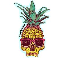 Pineapple - Stay Weird Photographic Print