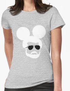 George Mouse (White) Womens Fitted T-Shirt