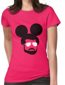 George Mouse (Black) Womens Fitted T-Shirt