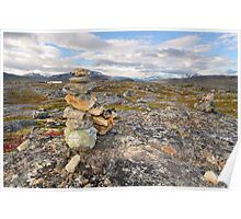 Summer rocky mountain landscape Poster