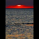 Long Island Sound Red Sunset - Stony Brook, New York by © Sophie Smith