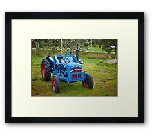 A lonely old tractor Framed Print