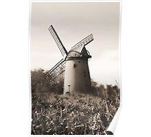 Bidston Windmill Mono Poster