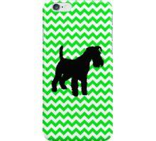 Irish Green Chevron with Schnauzer Silhouette iPhone Case/Skin