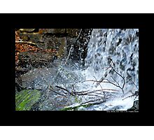 The Historic Grist Mill Dam Detail - Stony Brook, New York Photographic Print