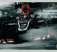 "Kimi Raikkonen Quote Poster - ""The most important thing..."" - 2013 by evenstarsaima"
