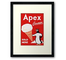 Apex Ice Cream Penguin Poster Framed Print