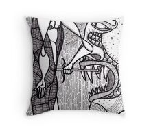 watch out for snakes 2 Throw Pillow