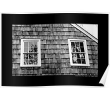 Old Grist Mill Windows - Stony Brook, New York Poster