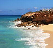 Cupecoy Seascape, St. Maarten by Roupen  Baker