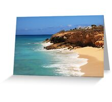 Cupecoy Seascape, St. Maarten Greeting Card
