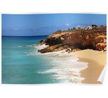 Cupecoy Seascape, St. Maarten Poster