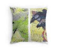 Incarnata Diptych #8 Throw Pillow