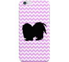 Pink Chevron With Shih Tzu Silhouette iPhone Case/Skin