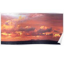 Morning Sunrise Sky over St. Barts Poster