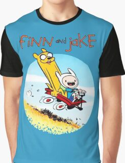 Finn And Jake Adventure Time Graphic T-Shirt