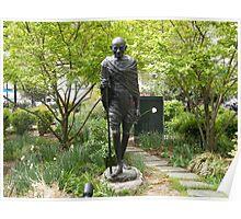 Gandhi Statue, Union Square Park, New York City  Poster