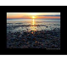 Sunset At West Meadow Beach - Stony Brook, New York Photographic Print