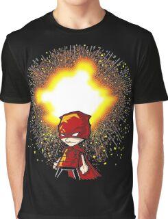 Calvin And Hobbes Superhero Graphic T-Shirt
