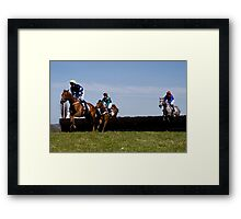 A Day at the Races Framed Print