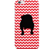 Fire Truck Red Chevron With English Bulldog iPhone Case/Skin