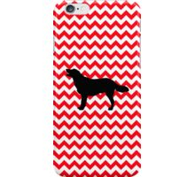 Fire Truck Red Chevron With Golden Retriever iPhone Case/Skin