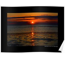 West Meadow Beach Peaceful Sunset - Stony Brook, New York Poster