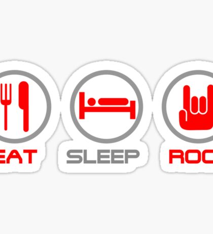Eat Sleep Rock Sticker