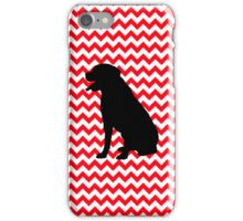 Fire Truck Red Chevron With Lab Retriever iPhone Case/Skin