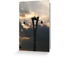 London Cable car in cloud and sunlight Greeting Card