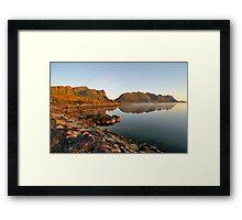 Fjord shore in Norway Framed Print