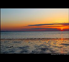 West Meadow Beach Colorful Sunset - Stony Brook, New York by © Sophie W. Smith