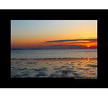 West Meadow Beach Colorful Sunset - Stony Brook, New York Photographic Print