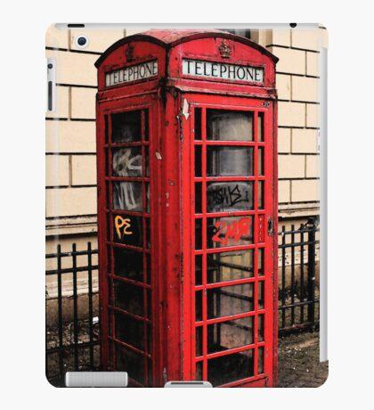 Red/Graffiti Phone Box iPad Case/Skin
