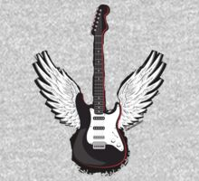 Winged Guitar One Piece - Long Sleeve
