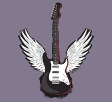 Winged Guitar by rawrclothing