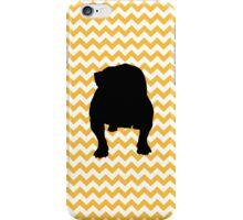 Pastel Orange Chevron With English Bulldog iPhone Case/Skin