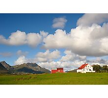 Mountain village in northern Norway Photographic Print
