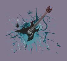 Graffiti Guitar Kids Tee