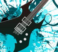 Graffiti Guitar Sticker