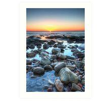 Sunrise over Winchelsea Beach Art Print